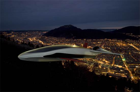 קונספט המטוס שתיכנן הירשברג / צילום הדמיה: באדיבות שבתאי הירשברג