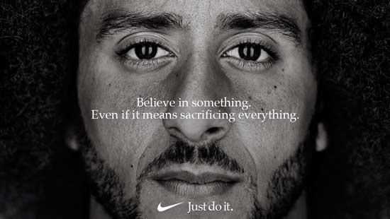 קולין קאפרניק בקמפיין נייקי/ צילום: NikeHandout via REUTERS Courtesy