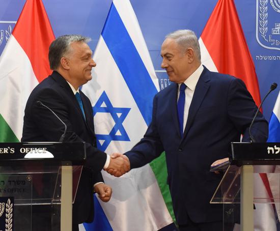 בנימין נתניהו וראש ממשלת הונגריה ויקטור אורבאן / צילום: רויטרס