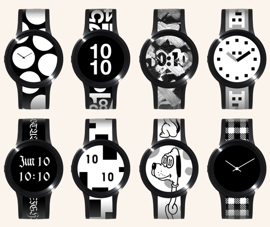 שעון מנייר אלקטרוני בעיצוב מתחלף\ צילום: יחצ