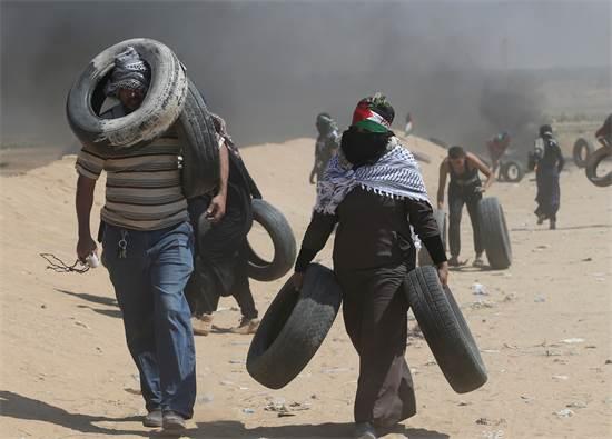 המהומות בעזה השבוע / צילום: רויטרס