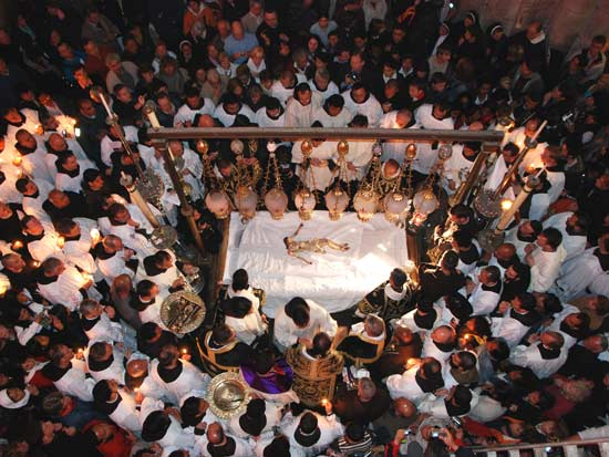 הטקס הקתולי המשחזר את הצליבה / צילום: יותם יעקבסון