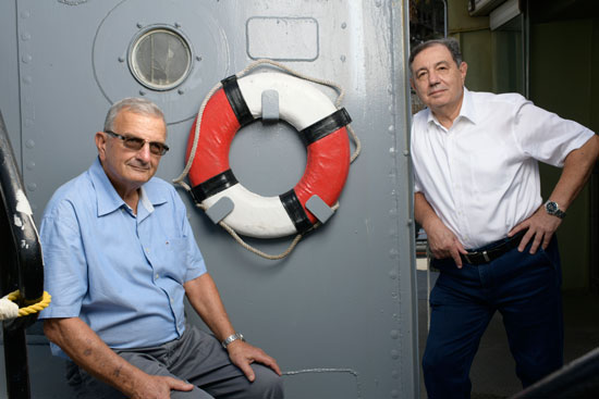 חורב (משמאל) עם אלכס גרסון/ צילום: יונתן בלום