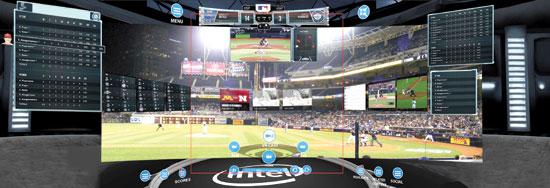 ניתוח משחק בייסבול באמצעות הטכנולוגיה של אינטל/ צילום: יחצ