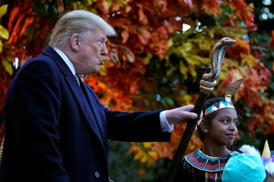 הנשיא טראמפ ותומכיו/ צילום : רויטרס Joshua Roberts