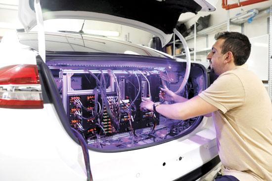 מכונית אוטונומית ניסויית של מובילאיי/ צילום: רויטרס