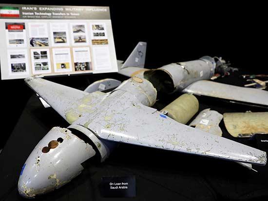 """מל""""ט איראני שהוצג בפנטגון על-ידי שגרירות ארה""""ב באו""""ם, ניקי היילי / צילום: רויטרס - Yuri Gripas"""