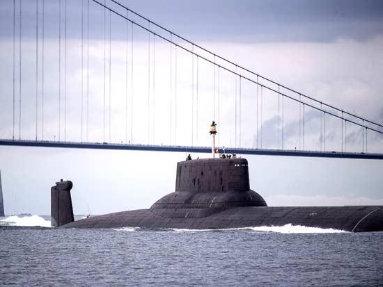 צוללת גרעינית רוסית בדנמרק / צילום: רויטרס -  Christine Noergaard