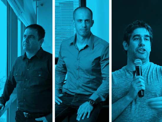 המשקיעים ניר צוק (מימין) מיקי בודאי ושלמה קרמר / צילום: תמר מצפי, יונתן בלום