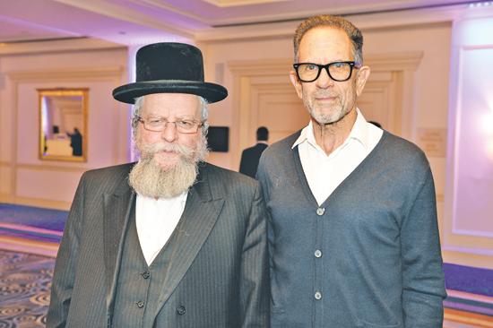 יגאל אהובי והרב פירר / צילום: מורג ביטן