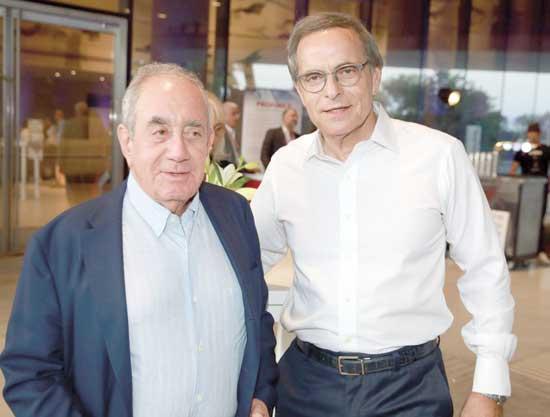 אמנון דיק ואלפרד אקירוב / צילום: איציק בירן