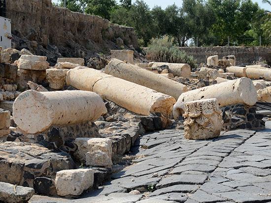 ההריסות הרומיות / צילום: איל יצהר