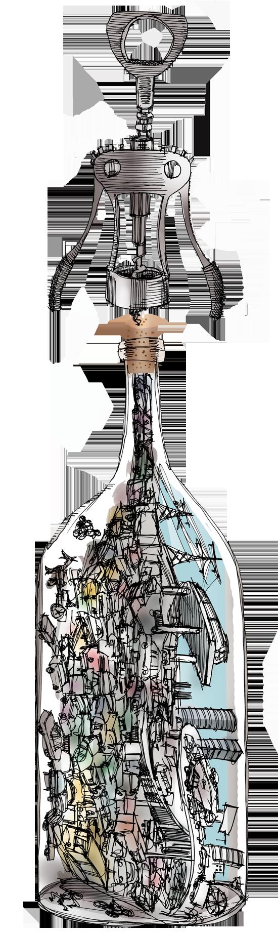 בקבוק / איור: גיל ג'יבלי