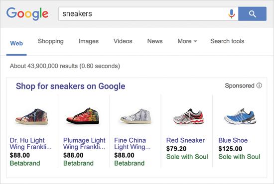 מנוע הקניות של גוגל / צילום: מסך
