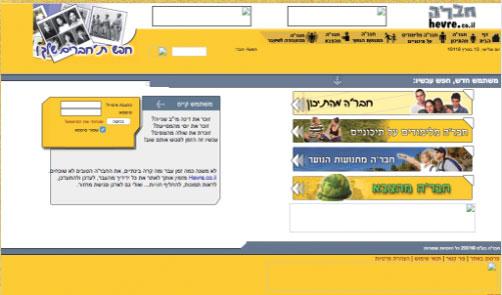 כך נראו האתרים הישראלים בעבר: אתר חבר'ה הוקם ב-2001, שלוש שנים לפני פייסבוק, כרשת חברתית ליצירת קשר עם חברים מהעבר