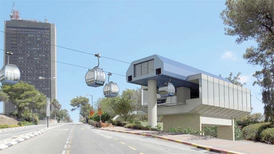 הרכבל המתוכנן מצומת הצ'ק פוסט לאוניברסיטת חיפה / הדמיה: חברת יפה נוף