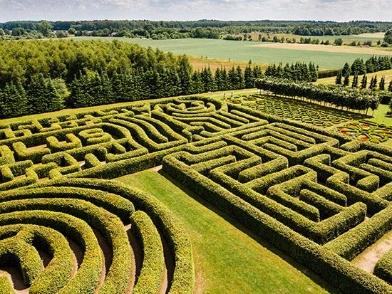גן המבוך בגני הורטולוס בפולין /  צילום: Shutterstock | א.ס.א.פ קריאייטיב