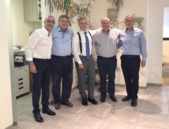 אילן ארצי, ראובן ויטלה, פיטר וון בונסדורף, יהודה קשתי ועמי בן עיון / צילום: פרטי