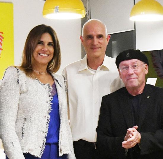 מולי אדן, דורון שוופי ועינב אדיב ברר/  צילום: ערייית חיפה