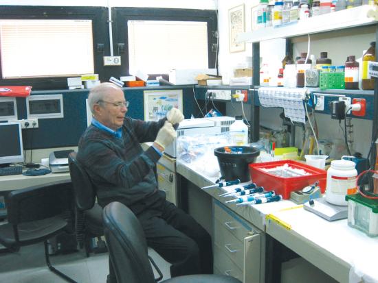 פרופ' הרשקו במעבדה / צילום:  Vincent Ma