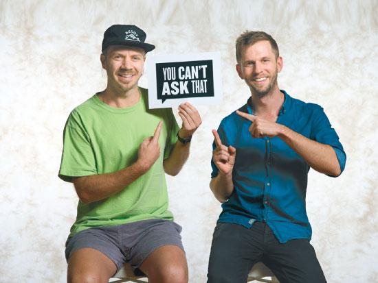 קירק דוקר (משמאל) וארון סמית, יוצרי הפורמט מאוסטרליה / צילום: ABC 2018