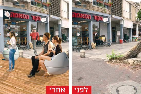"""מרכז מסחרי ברחוב אילת/ צילומים והדמיות: משרד """"נחלת הכלל"""""""