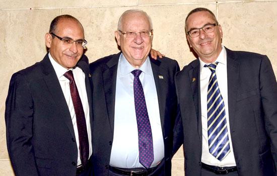 רוני בריק, ראובן ריבלין, אילן גורדו / צילום: כפיר סיון