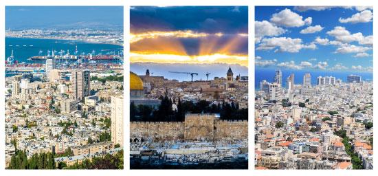 תל אביב, חיפה, ירושלים / צילום:  Shutterstock/ א.ס.א.פ קרייטיב