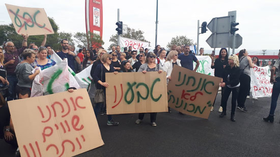הפגנה השבוע בקריית שמונה נגד כוונת טבע למכור את מפעל מיגדה / צילום: דוברות ההסתדרות