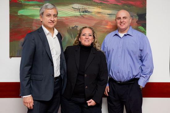 שלי לנצמן, אביתר מתניה וז'אן פיליפ קורטואה  / צילום: ענבל מרמרי