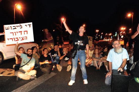 הפגנה בעד הרחבת הדיור הציבור/ צילום: איל יצהר
