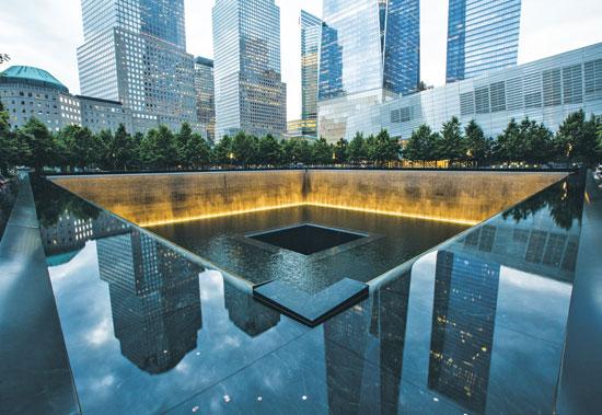 האנדרטה לפיגועי 11 בספטמבר/  צילום: דוברות ההסתדרות