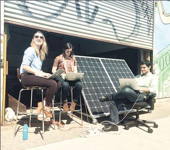 פאנל סולארי בברוקלין / צילום: The brooklyn microgrid