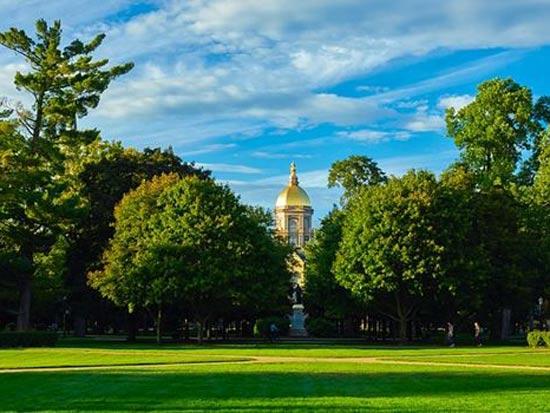 """היכן שיש אוניברסיטאות, יש ביקוש לדירות להשכרה"""". אוניברסיטת נוטרה דאם בסאות' בנד/ צילום: יח""""צ"""