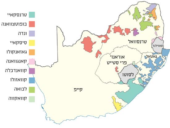 מפת הבנטוסטנים