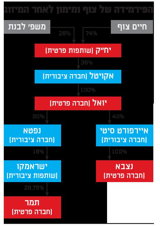 הפירמידה של צוף ומימון לאחר המיזוג