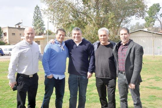 תומר יעקבי, יהודה עדר, טדי שגיא, אודי אנג'ל ומשה סיני / צילום: עופר שובל