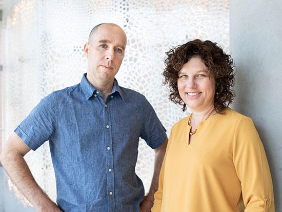 רנית אהרונוב ונעם סלונים / צילום: באדיבות research IBM