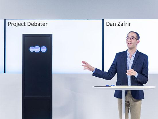 דן צפריר בעימות עם הדיבייטר בשבוע שעבר / צילום: באדיבות research IBM