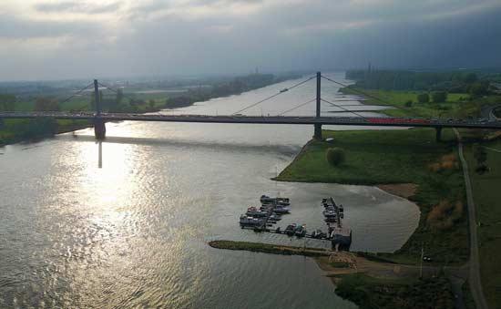 גשר Leverkusen בצפון קלן, גרמניה/צילום: Shutterstock