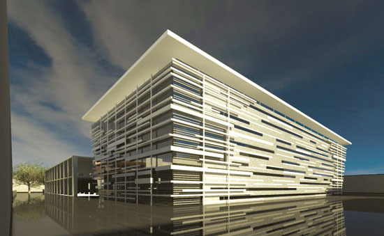 בנין מחקר בסורוקה / הדמיה: שרון אדריכלים