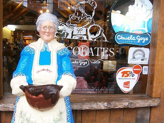 סבתא גושה. סמלו של בית שוקולד באותו שם, מחווה למהגרים הראשונים / צילום: יעל כרמלי