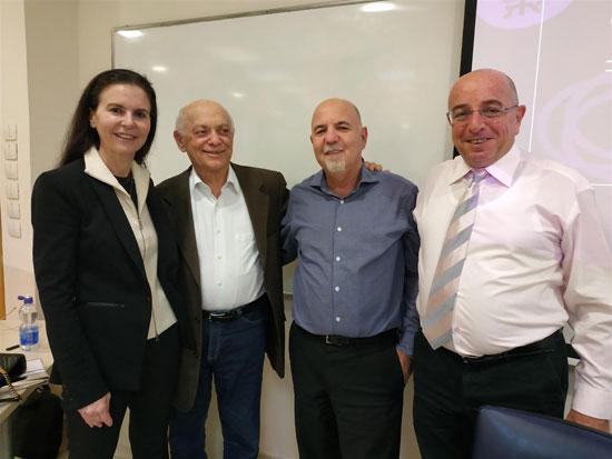 אודי אהרוני, אילן פלטו, יוסף גרוס ועפרה שטראוס/ צילום: פרטי
