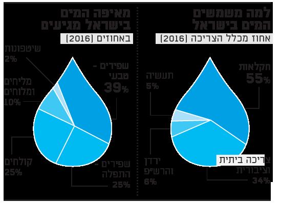 למה משמשים המים בישראל