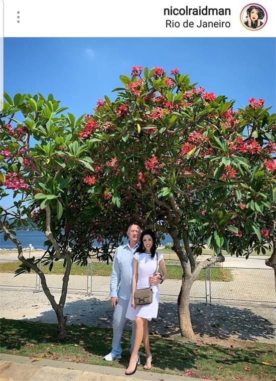 ניקול ראדימן ובן זוגה מיכאל צ'רנוי בברזיל / צילום: מתוך חשבון האינסטגרם של ניקול ראדימן