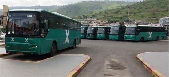 """אוטובוסים של אגד / צילום: אייל מרגולין, יח""""צ"""