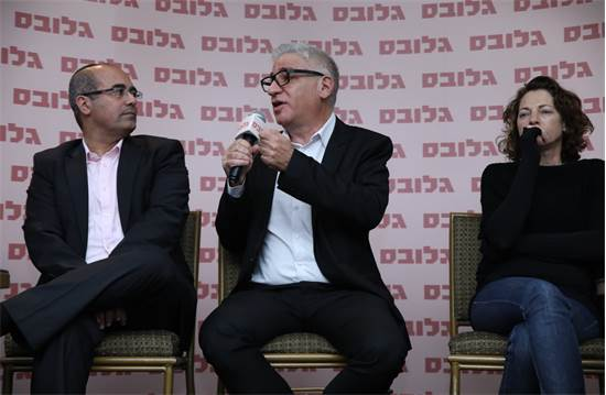 ניצן תנעמי, אמיר חייק ואילן גורדו באירוע מצביעים כלכלה \ צילום: כדיה לוי