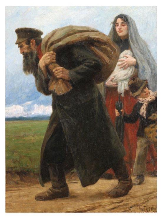 ציור של מקס פביאן: פליטים