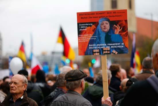 הפגנה של המפלגה הימנית  אלטרנטיבה לגרמניה/  צילום: רויטרס - Hannibal Hanschke