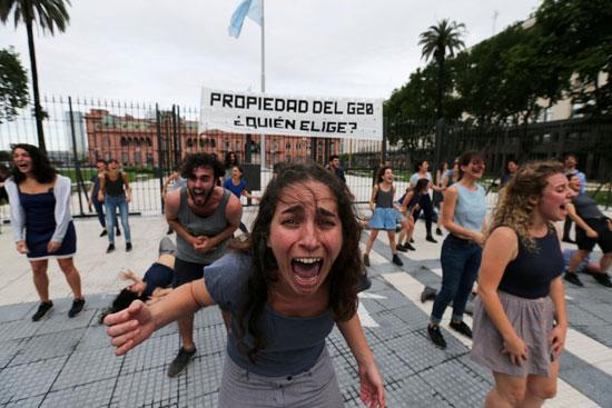 הפגנה בארגנטינה/ צילום: : רויטרס -  Ueslei Marcelino